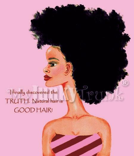 Good Hair-- African American Natural Hair Afro Print