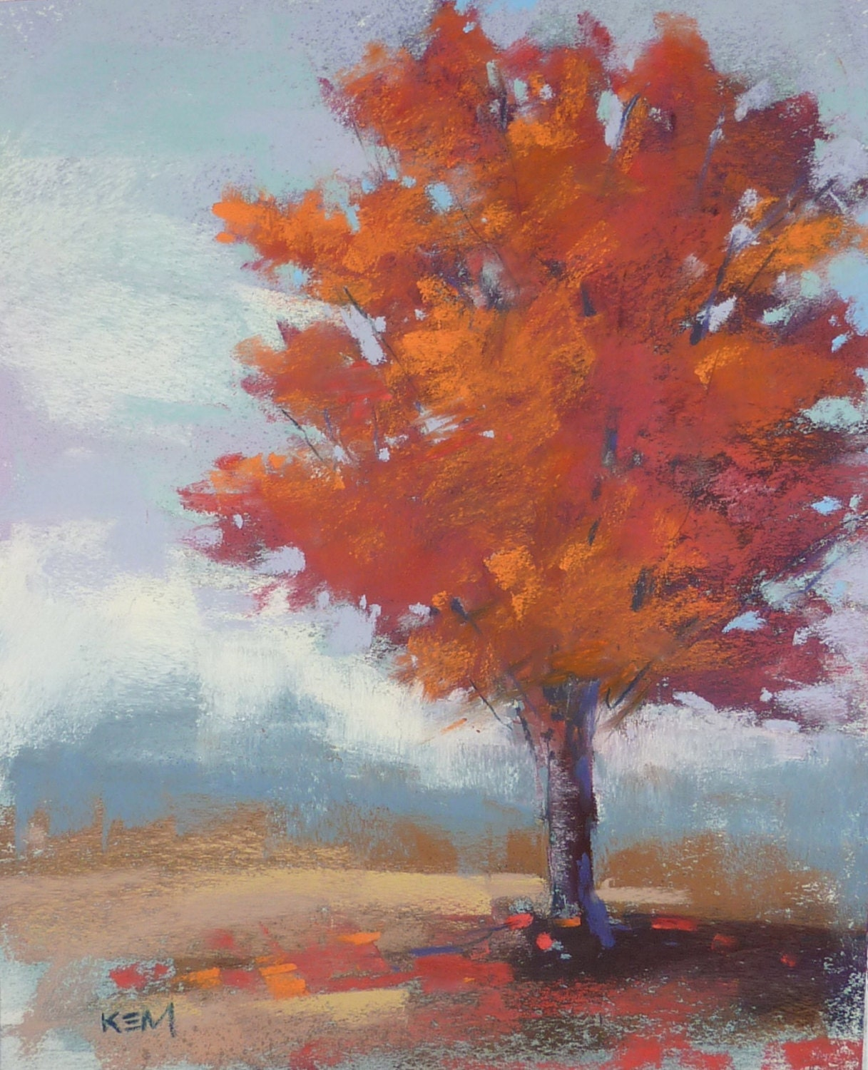 Let 39 s make a painting october 2013 for How to paint a tree