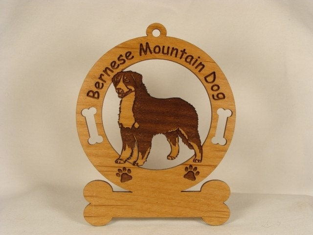 1714 Bernese Mountain Dog Personalized Ornament - gclasergraphics