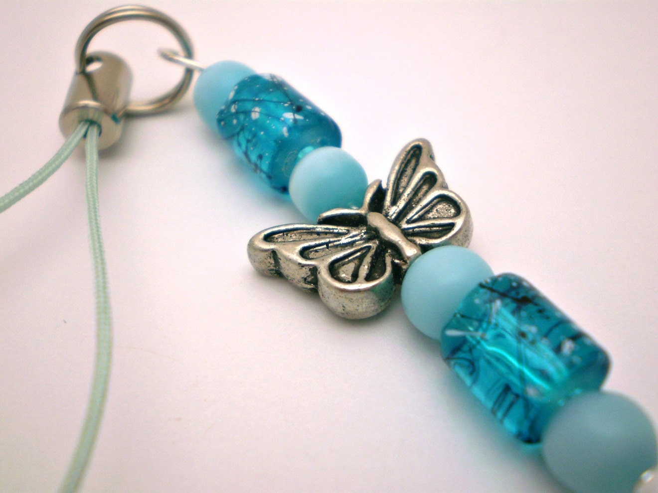 Butterfly Cell Charm in Blues
