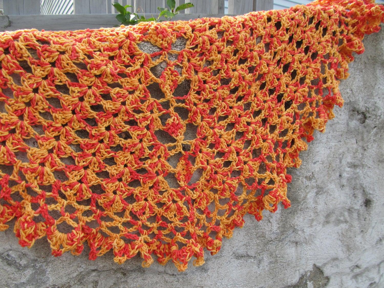 Crochet Pattern Half Circle Shawl : crochet beginner shawl Tumbling Diamonds any by anastaciaknits