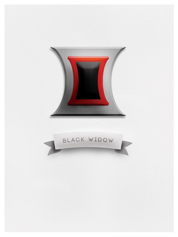 Black widow marvel avengers symbol - photo#17