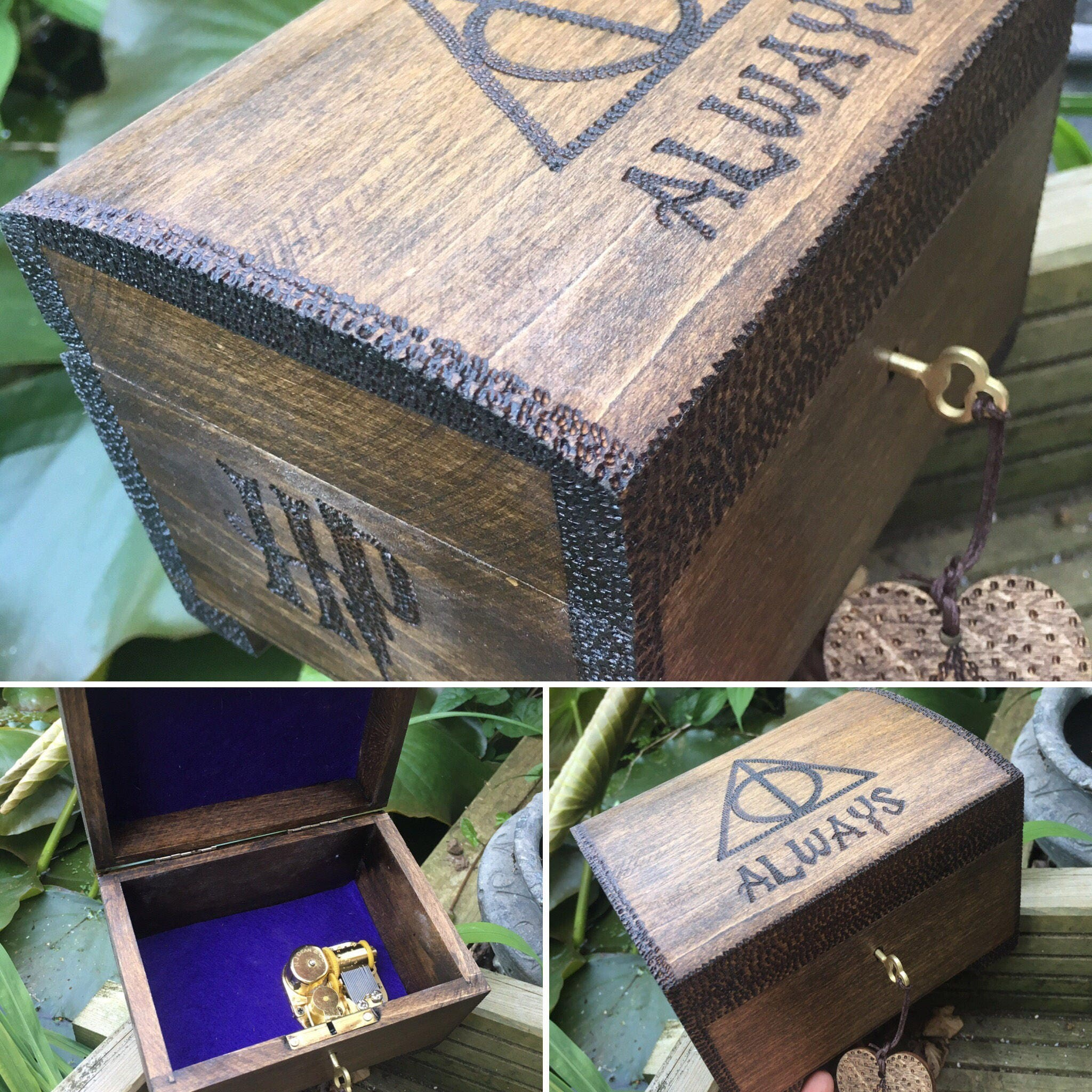 Music box. Lockable Harry Potter themed music box perfect gift for Harry Potter fan. Hedwigs theme.