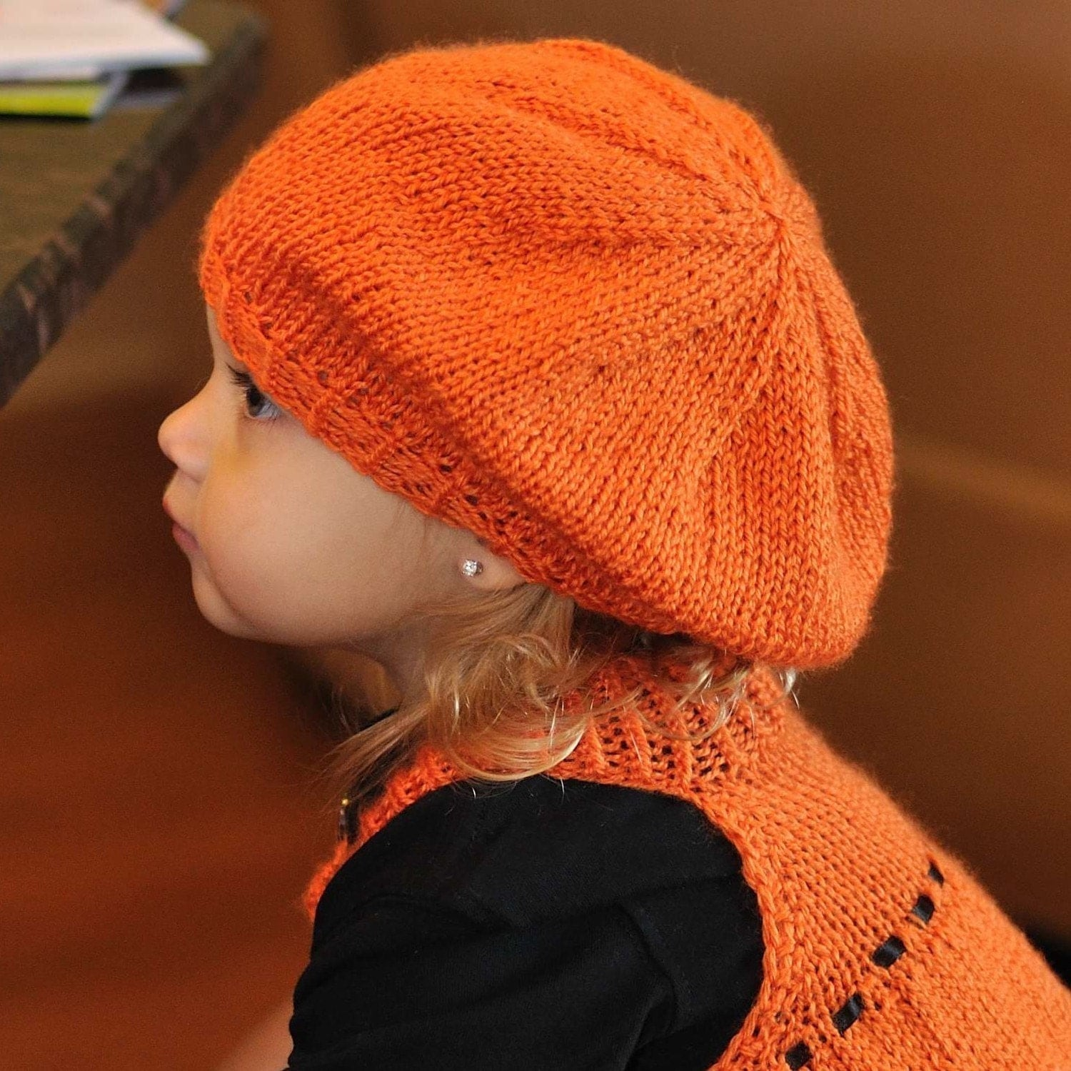Toddler Beret Knitting PATTERN Size 2-3 by Route45 on Etsy