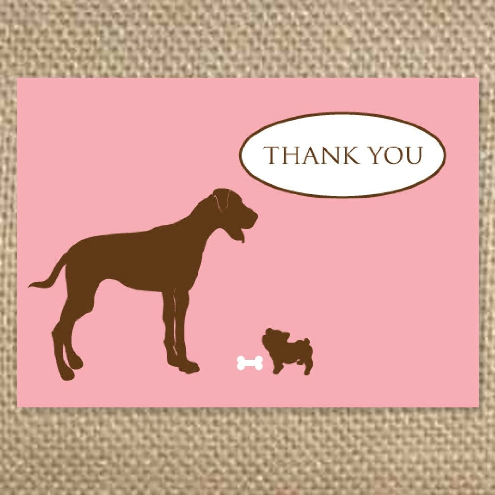 Items Similar To Cute Dogs Thank You Greeting Cards On Etsy