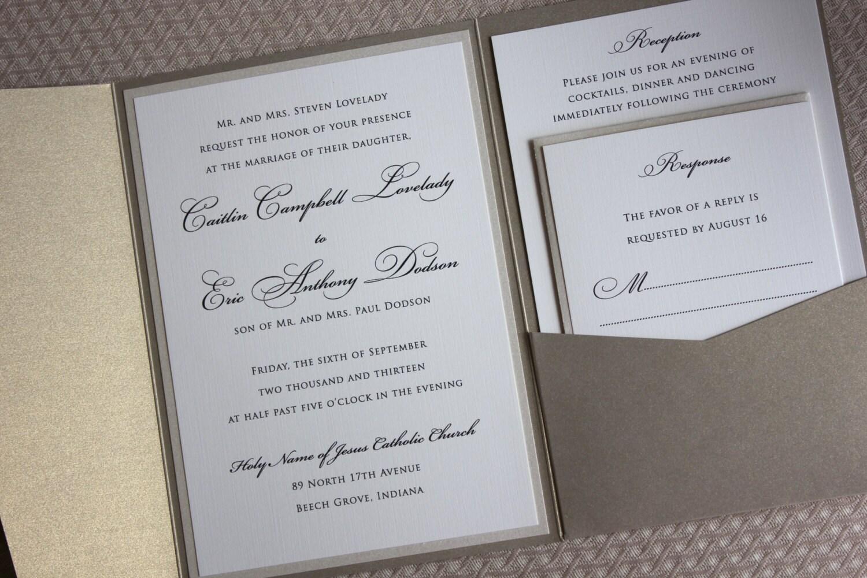 Classy Wedding Invitation was great invitations sample