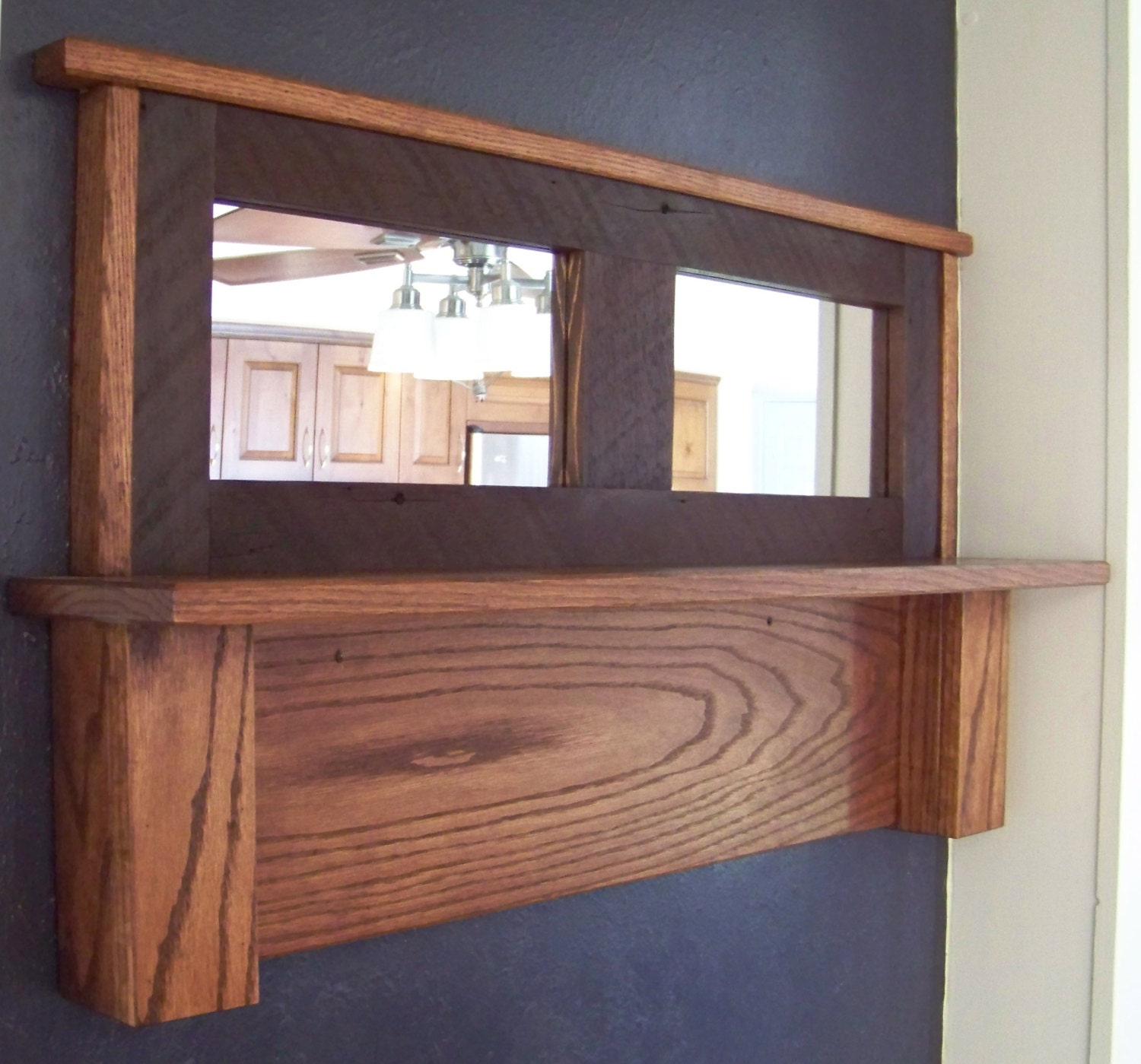 items similar to coat rack with mirror customizable hooks on etsy. Black Bedroom Furniture Sets. Home Design Ideas