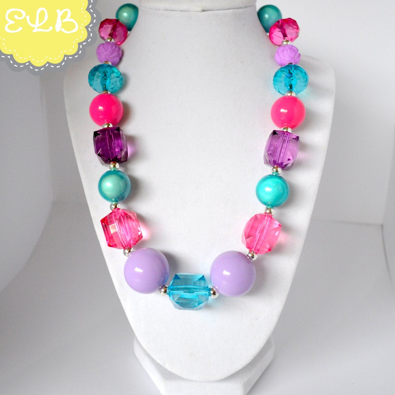 chunky bead necklace photo prop gumball by