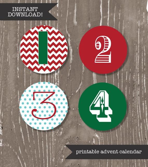 SALE! Printable Advent Calendar Numbers + Activities // diy Activity ...