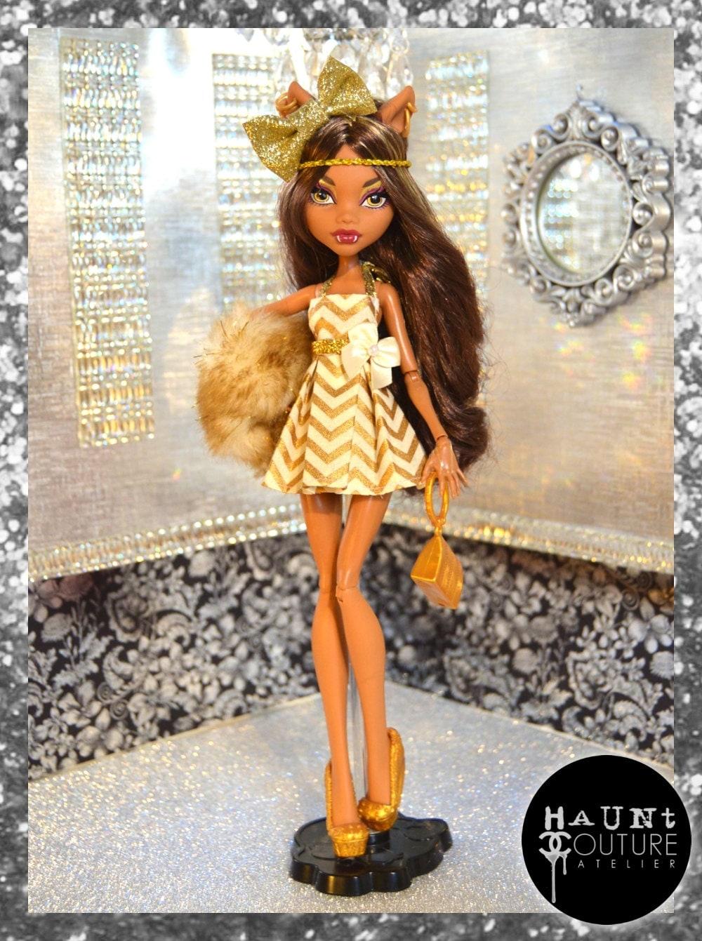 Как сделать платье для куклы монстр хай картинки