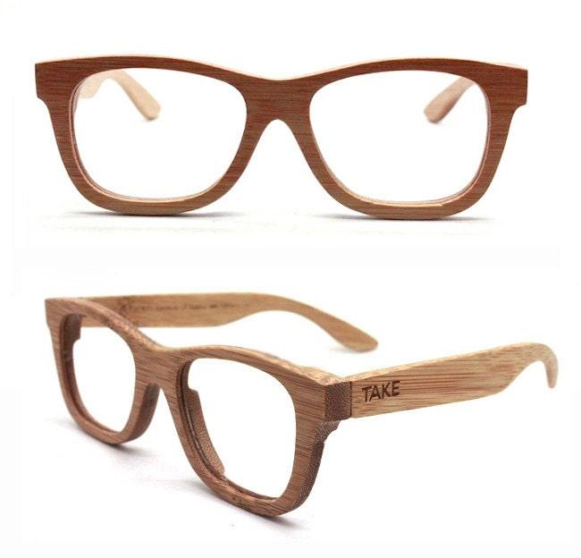 handmade bamboo brown eyeglasses glasses by takemoto