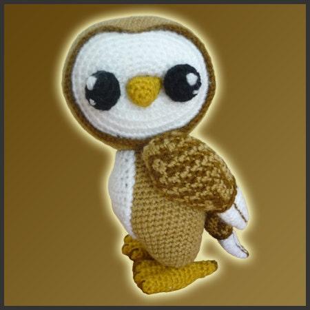 Amigurumi Pattern Crochet Barn Owl by DeliciousCrochet on Etsy
