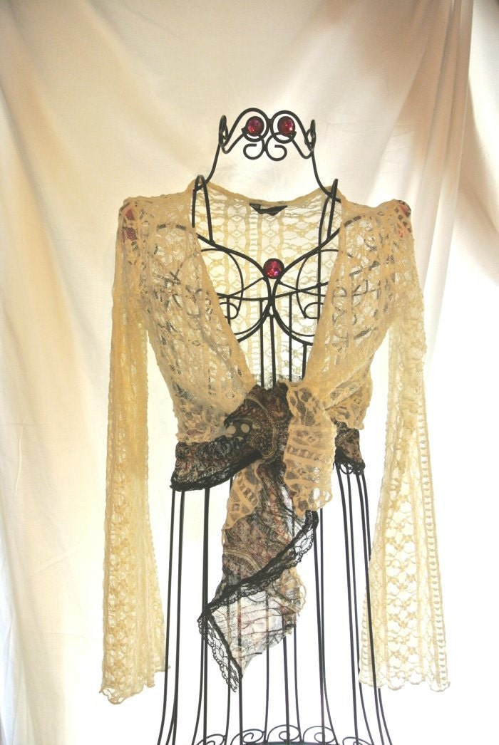 Страна французского кружева Кардиган White Lace Wrap мама невесты Потертый шикарный коттедж шикарный галстук одежды весна верхней Большой