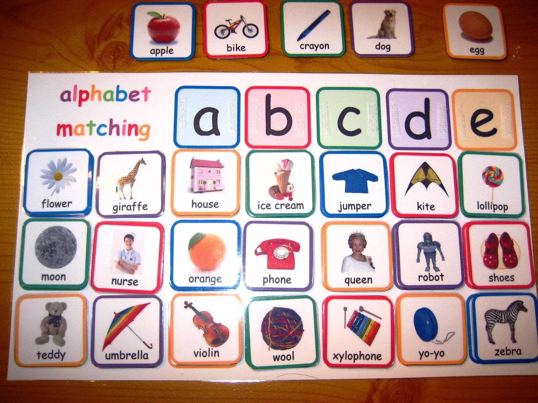 Epic image regarding alphabet matching game printable