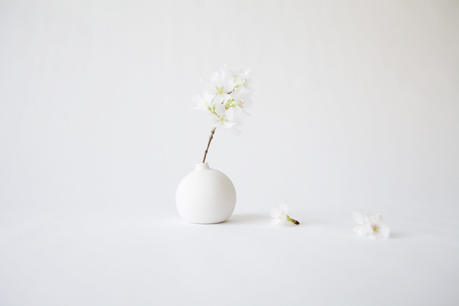 Small porcelain bud vase