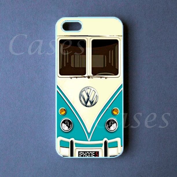 Iphone 5 Case - VW Mini Bus Teal Iphone 5 CoverIphone 5s Case Tumblr