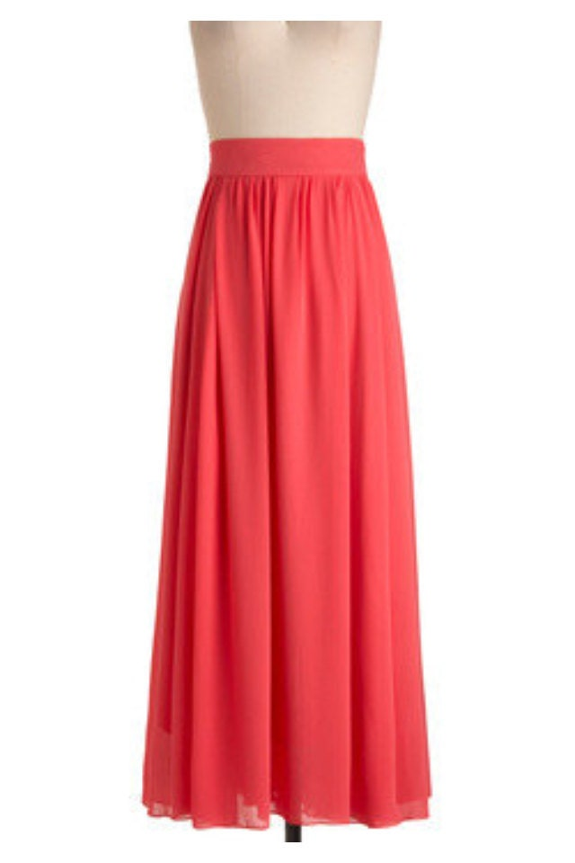 items similar to light coral maxi skirt on etsy