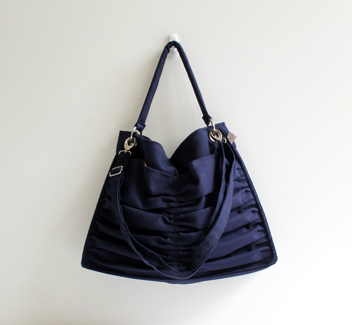 Fashion / Euphoria in Dark Midnight Blue / Outside Pockets / Pleated Shoulder Bag / Messenger Travel Bag / Large / Cross Body / Choose Color - bayanhippo