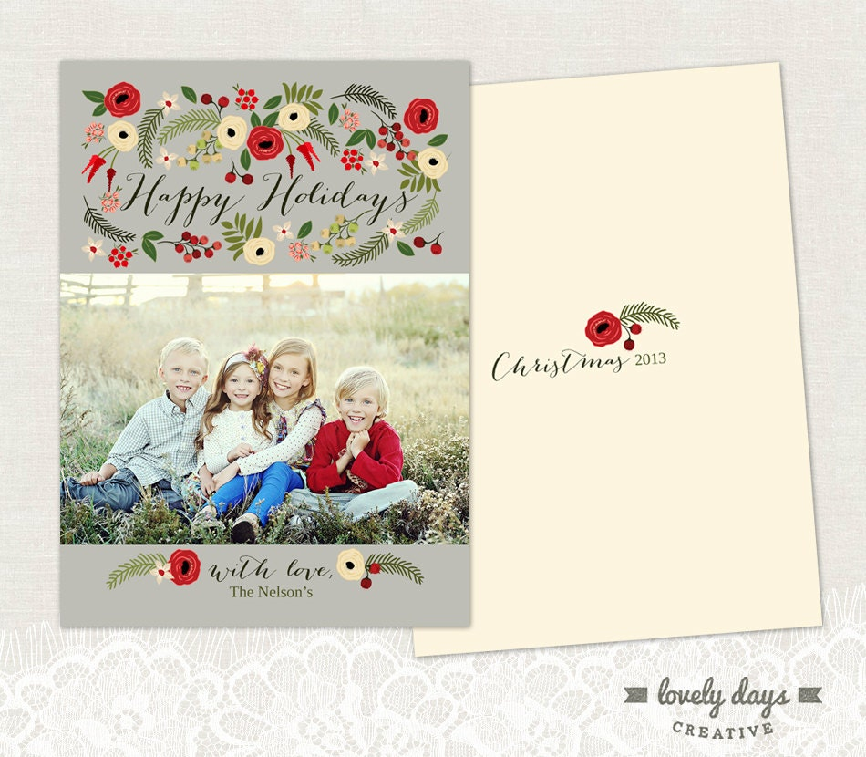 Christmas Card Templates For Photographers Items similar to Chris...