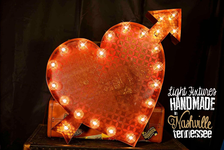 Valentine marquee sign