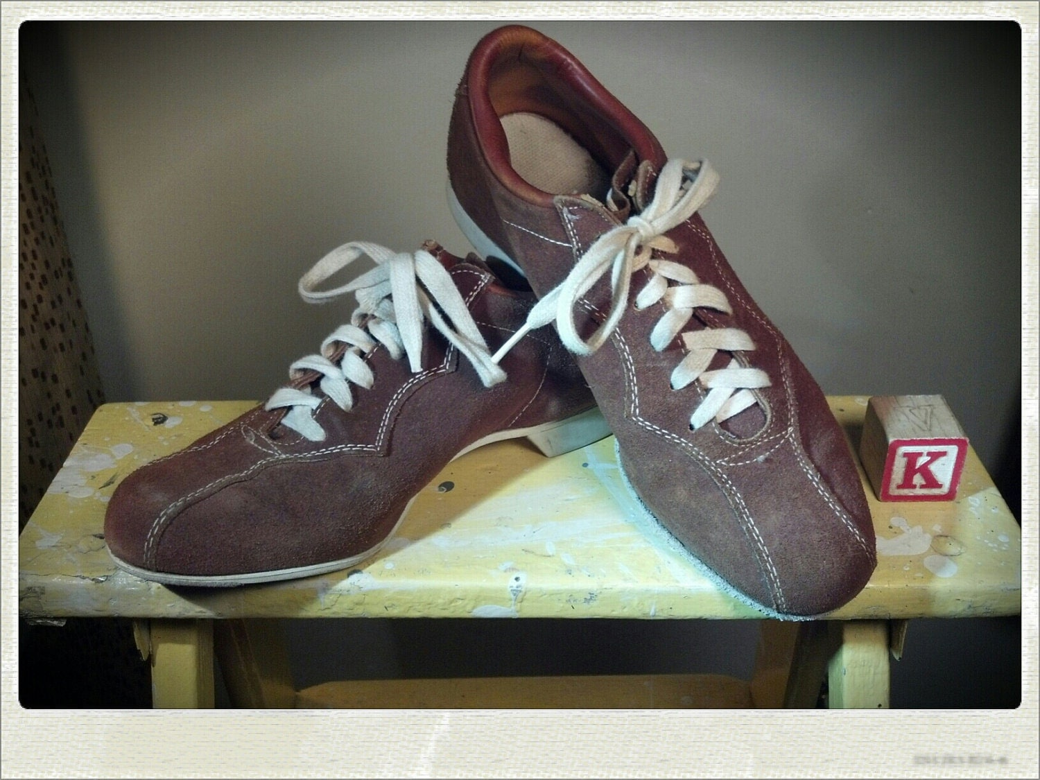 Women's Brown Suede Bowling Shoes
