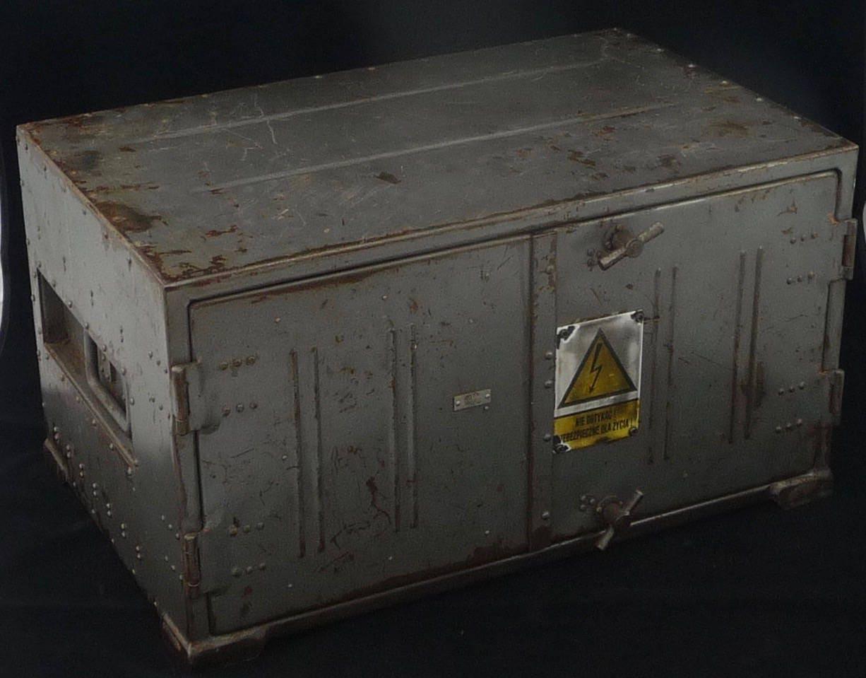 Vintage Soviet Two Door Metal Electrical Cabinet