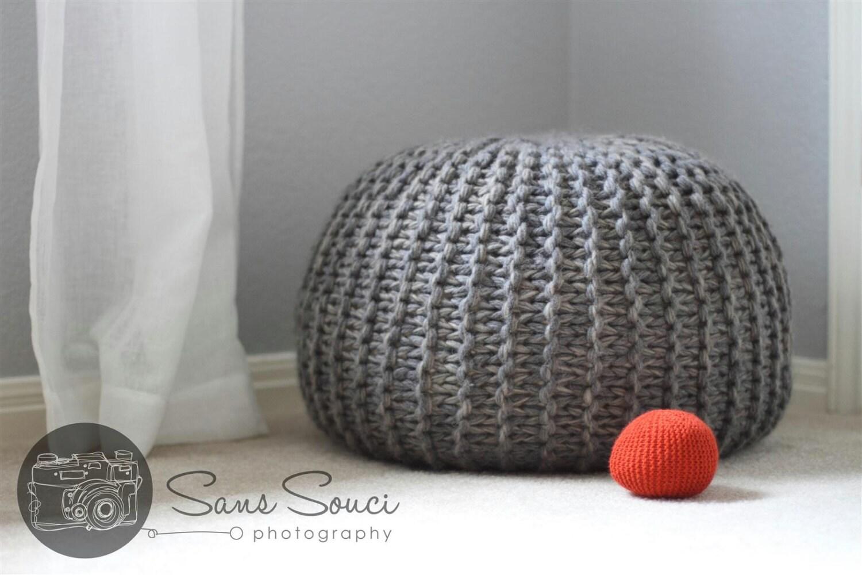 Pouf Poof Knitting Pattern Newborn Photo Prop by woolyfiori