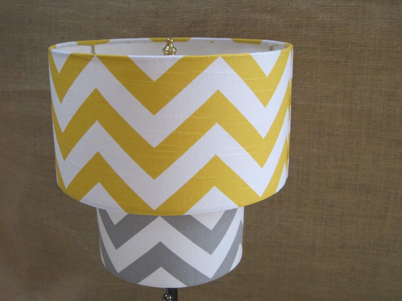 lamp shade chevron zig zag drum lampshade 2 by sweetdreamshades. Black Bedroom Furniture Sets. Home Design Ideas