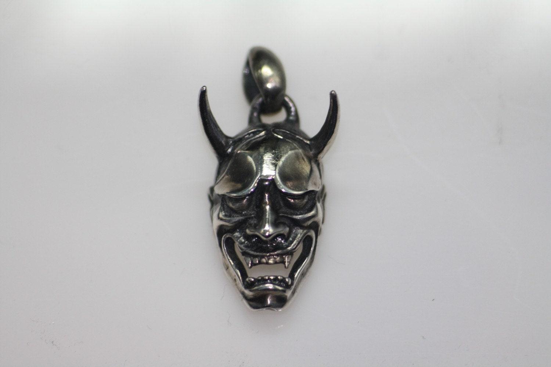 sterling silver 925 japanese demon oni evil by hannyahandcraft. Black Bedroom Furniture Sets. Home Design Ideas