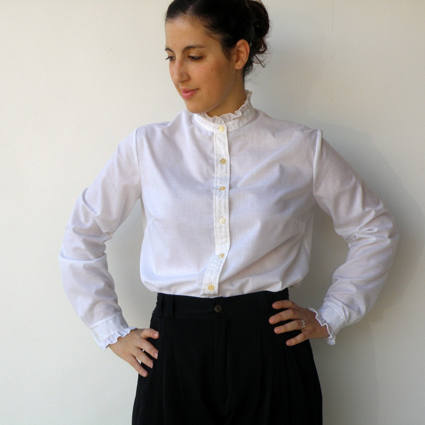 Womens White Victorian Blouse 71