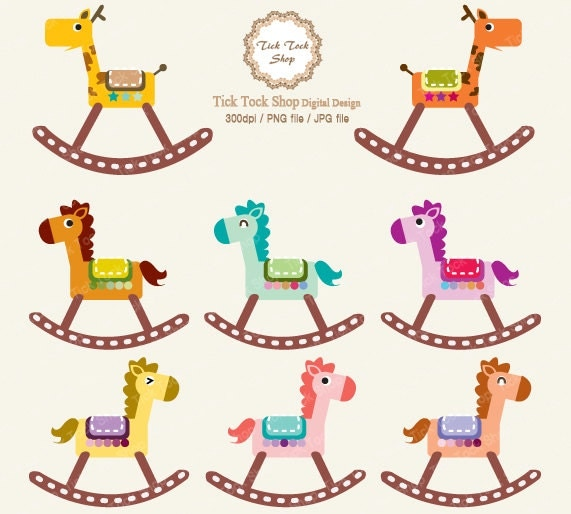 Baby Horse Clipart Rocking horse clip art