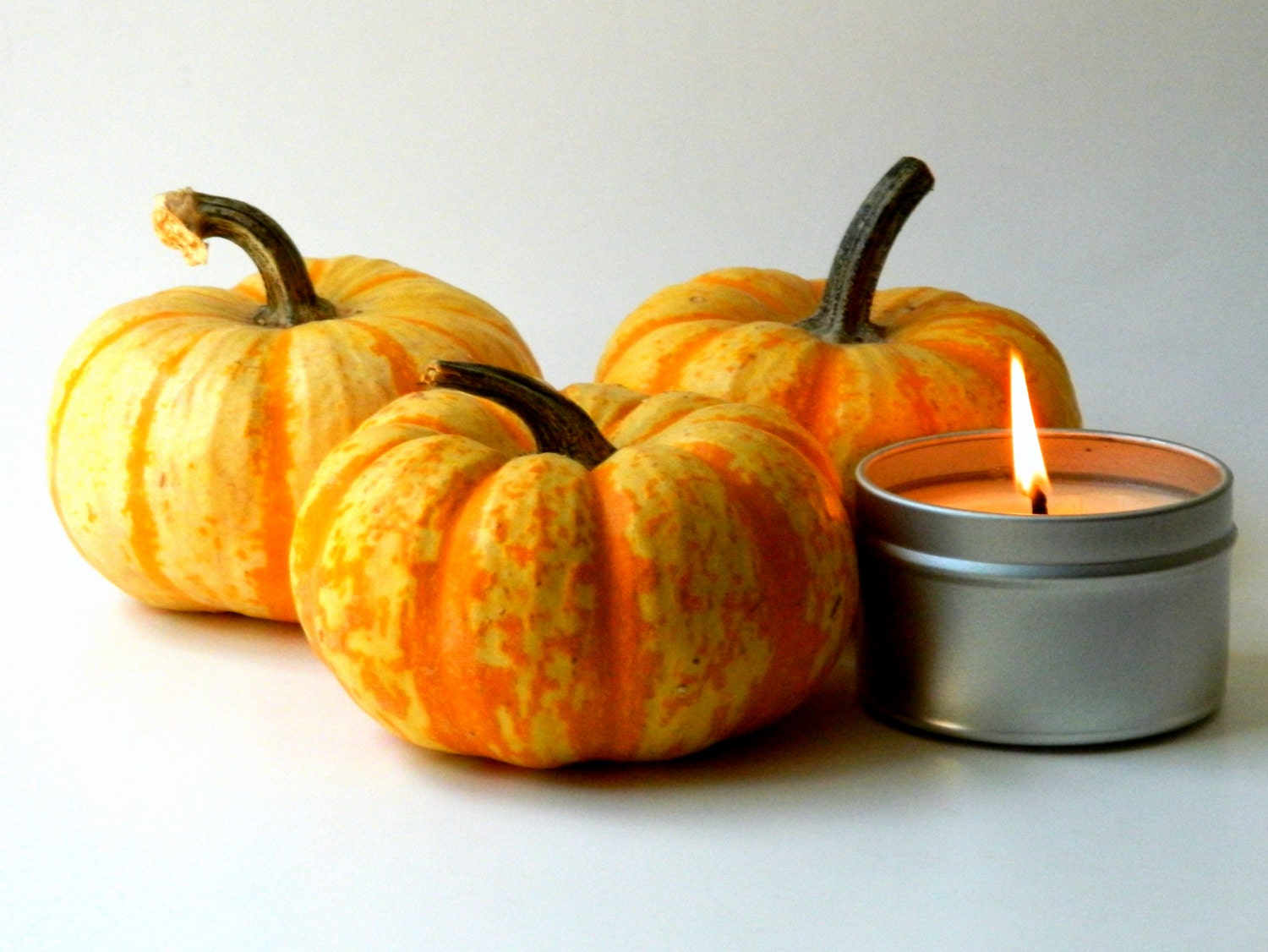 Pumpkin Scented Soy Candle Tin / 6 oz Home Decor - SoapForYourSoul
