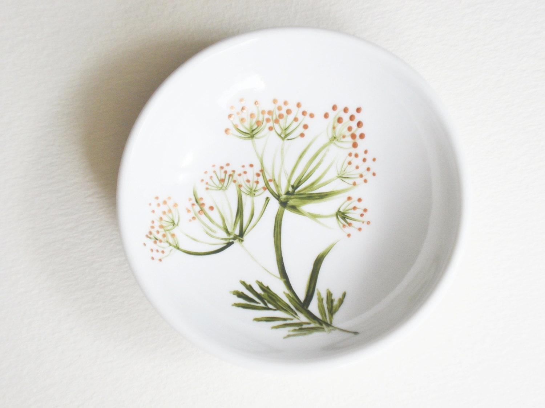 Wildflower Ring Dish Hand Painted - PaintedGlassGallery
