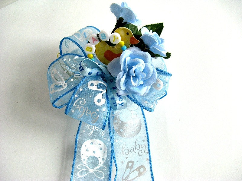 baby shower bow it 39 s a boy gift bow boy baby shower baby gift bow