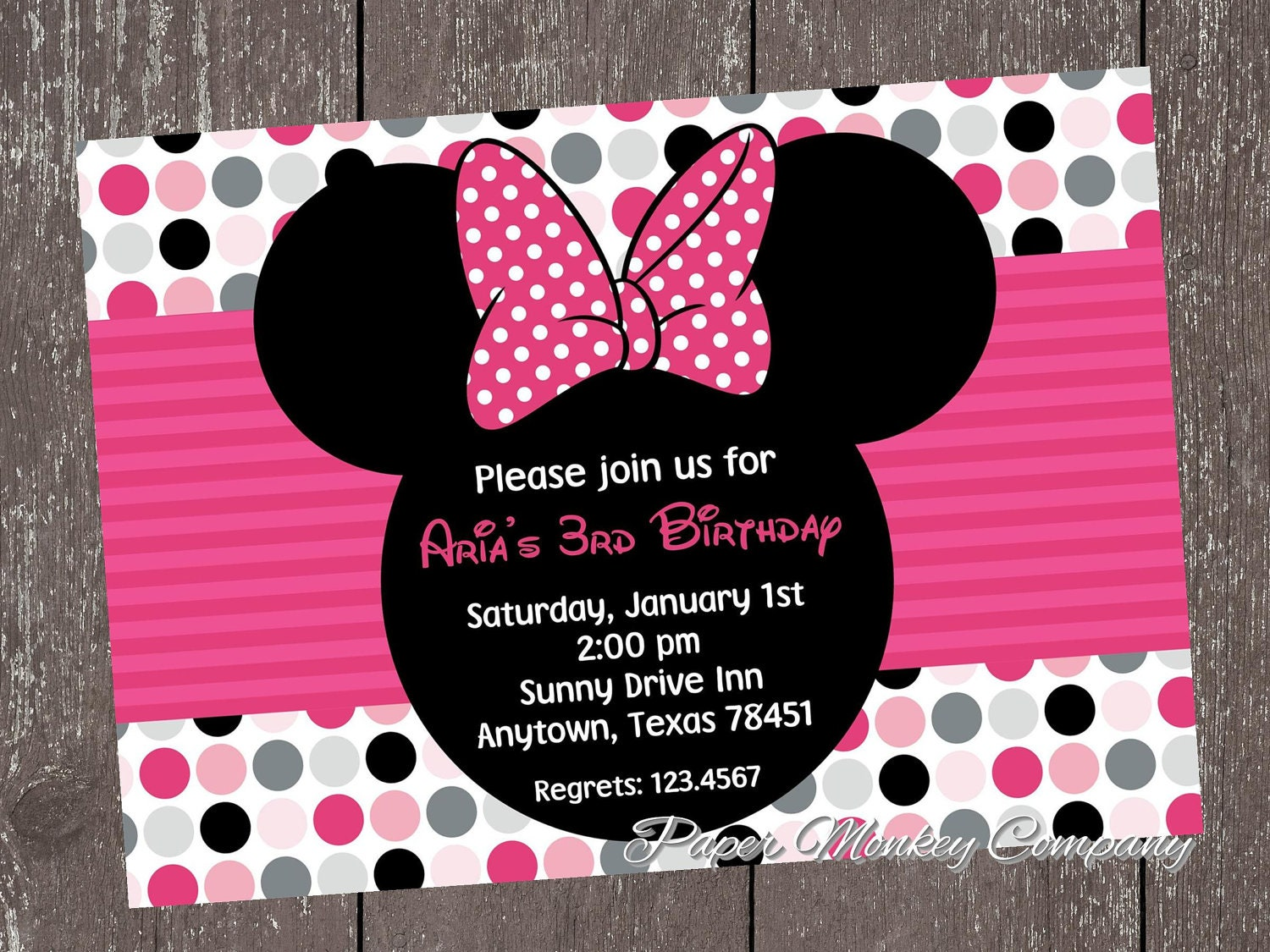 Minnie Mouse Birthday Invites could be nice ideas for your invitation template