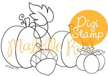 Instant Download Digital Stamp: Blessed Harvest