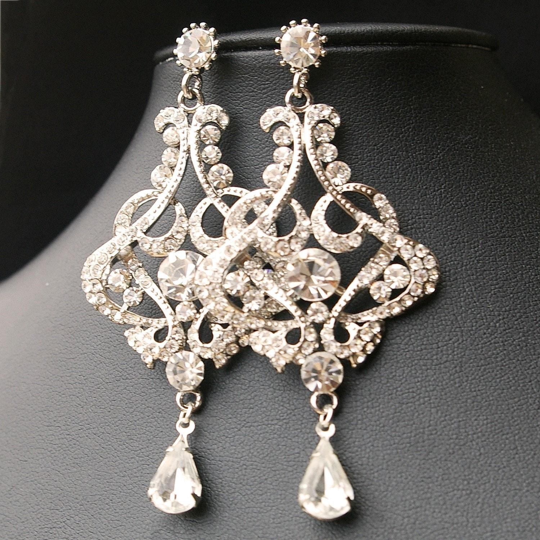 chandelier wedding earrings vintage style by