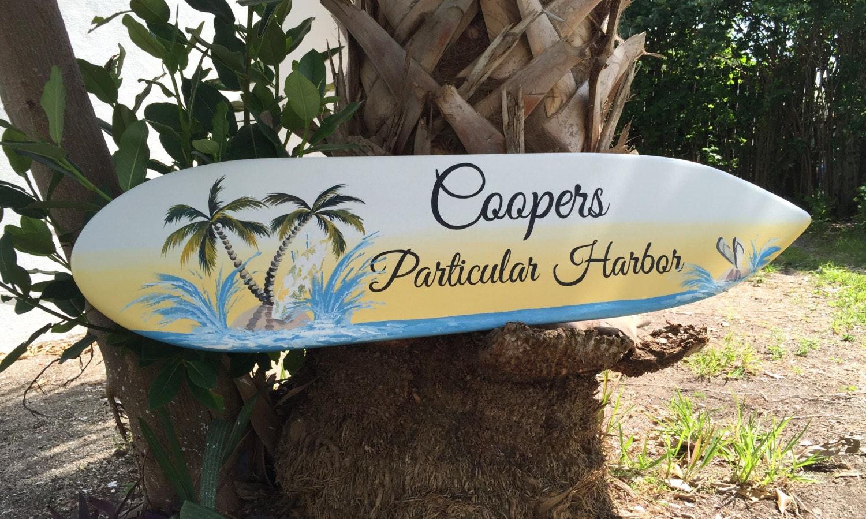 Pupukea Vintage Hawaiian Faux Wood Surfboard  Zazzleconz