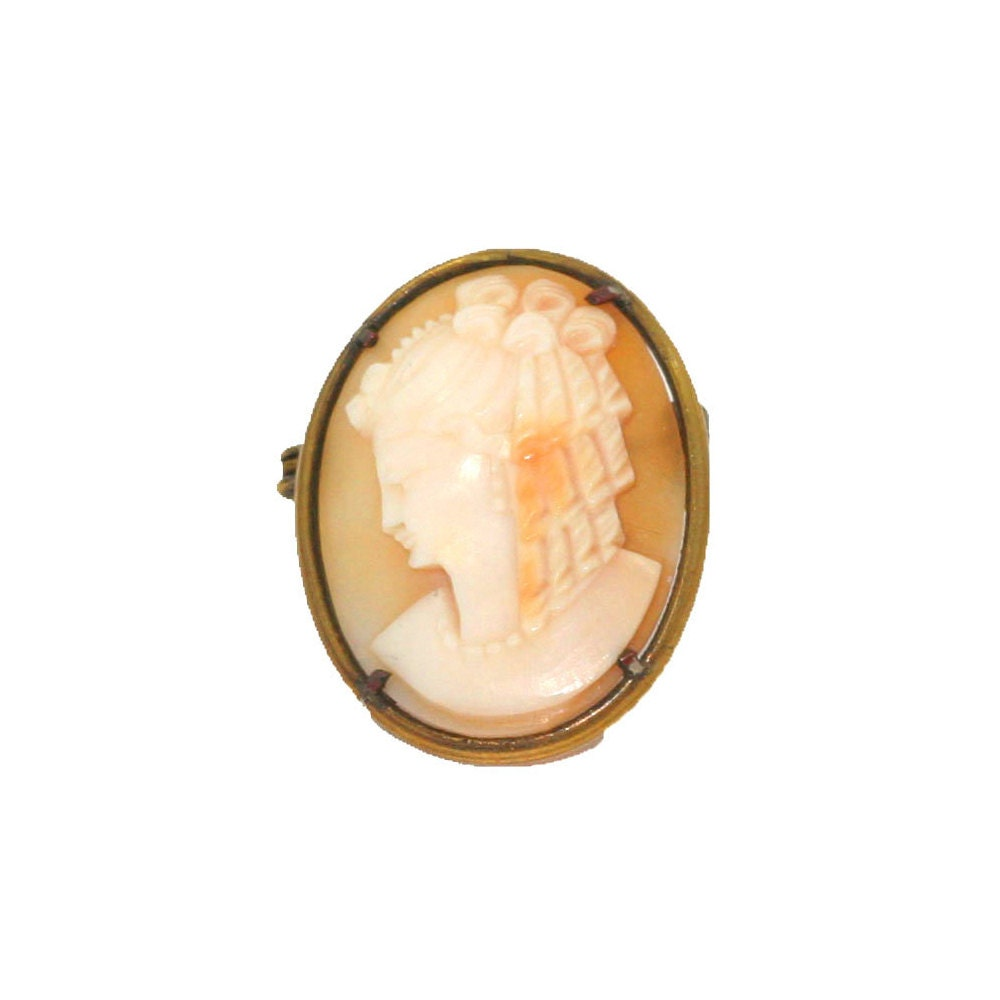 Antique Victorian Brooch  Cameo Brooch  Pinchbeck Brooch  Antique Pin  Antique Brooch  Antique Victorian Pin  Cameo Pin  Gold Brooch