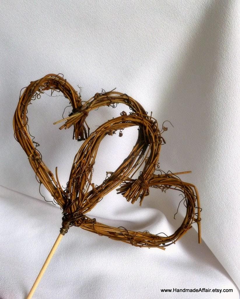 Twig Heart Cake Topper