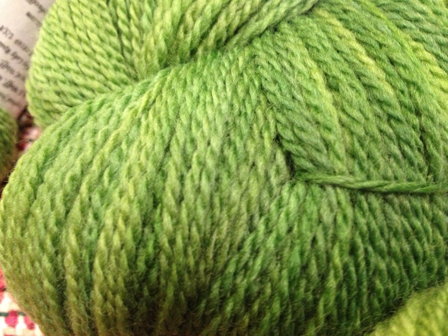 Bright Green, 100 grams, 80/20 SW Merino Wool/Nylon Sock Yarn - BrowningandWolff
