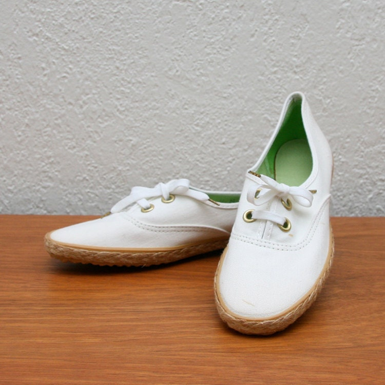 vintage 70s 80s grasshoppers canvas shoes by
