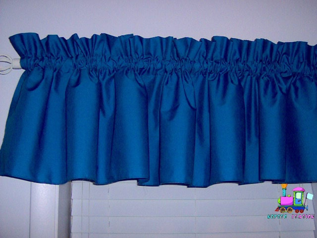 Solid Royal Blue Valance Curtain Window By Babycribskirts