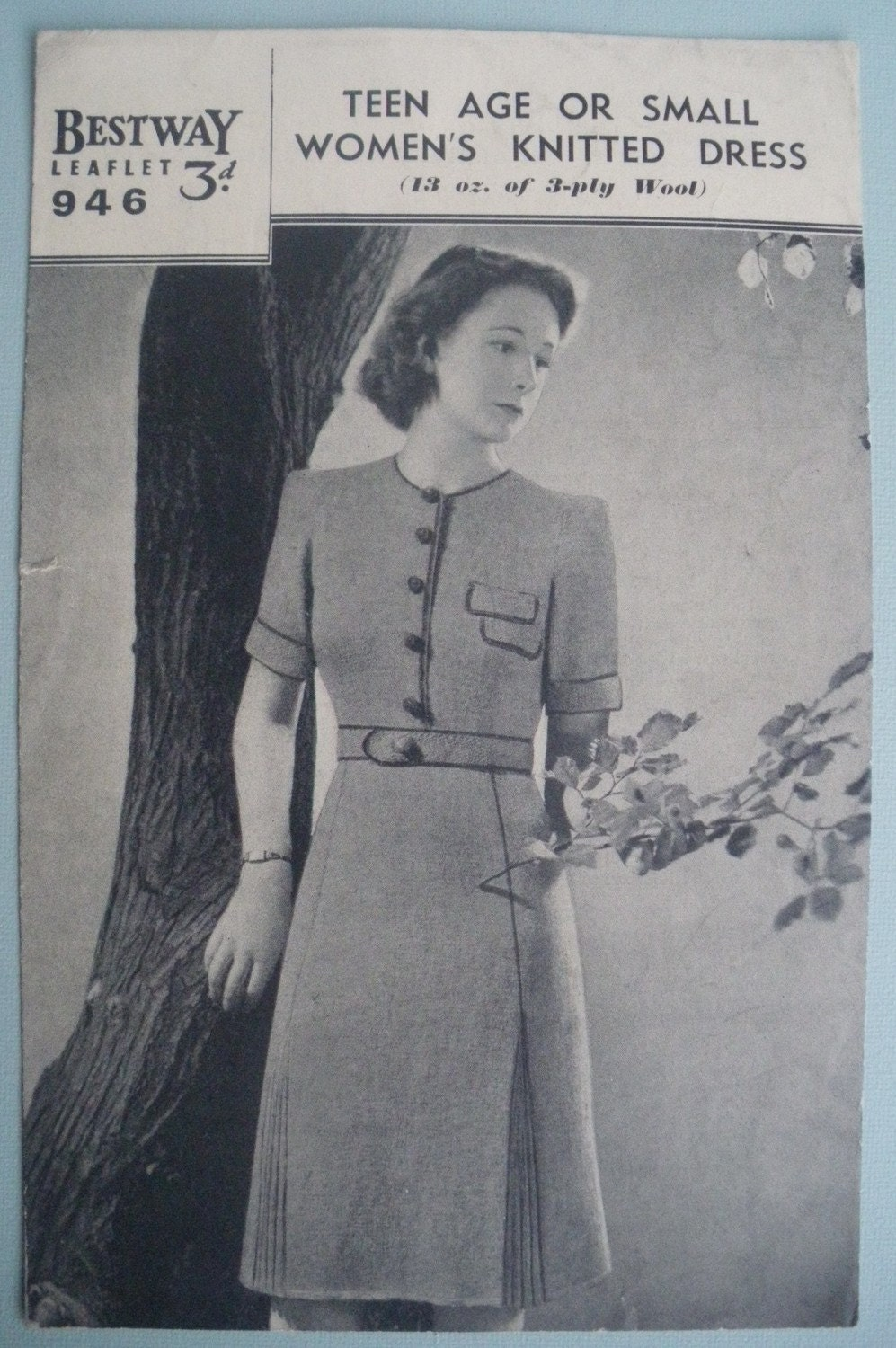 1930s Knitting Patterns : Knitting Pattern Vintage 1930s 1940s Womens by sewmuchfrippery