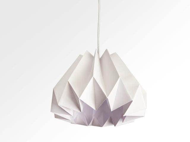 Pumpkin/Origami Paper Lamp Shade-White - twReborn