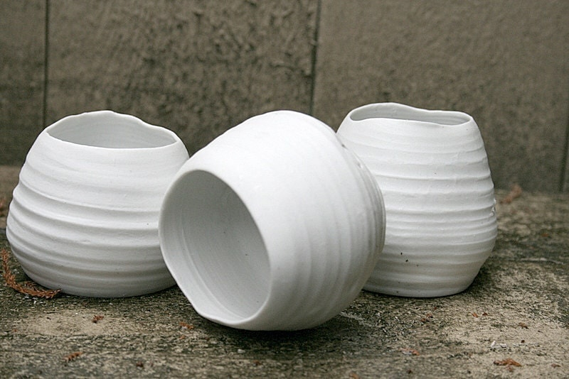 White porcelain tea light holder , gift package