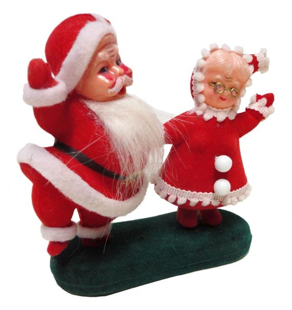 Vintage Mr. And Mrs. Claus Kitsch Santa Claus 50's By