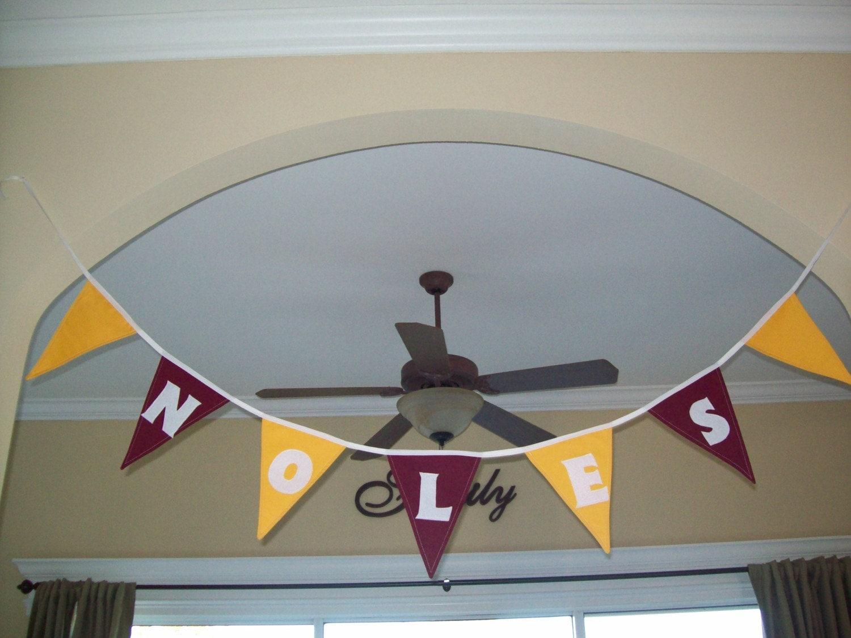 School Spirit Banner (a fabric flag bunting)
