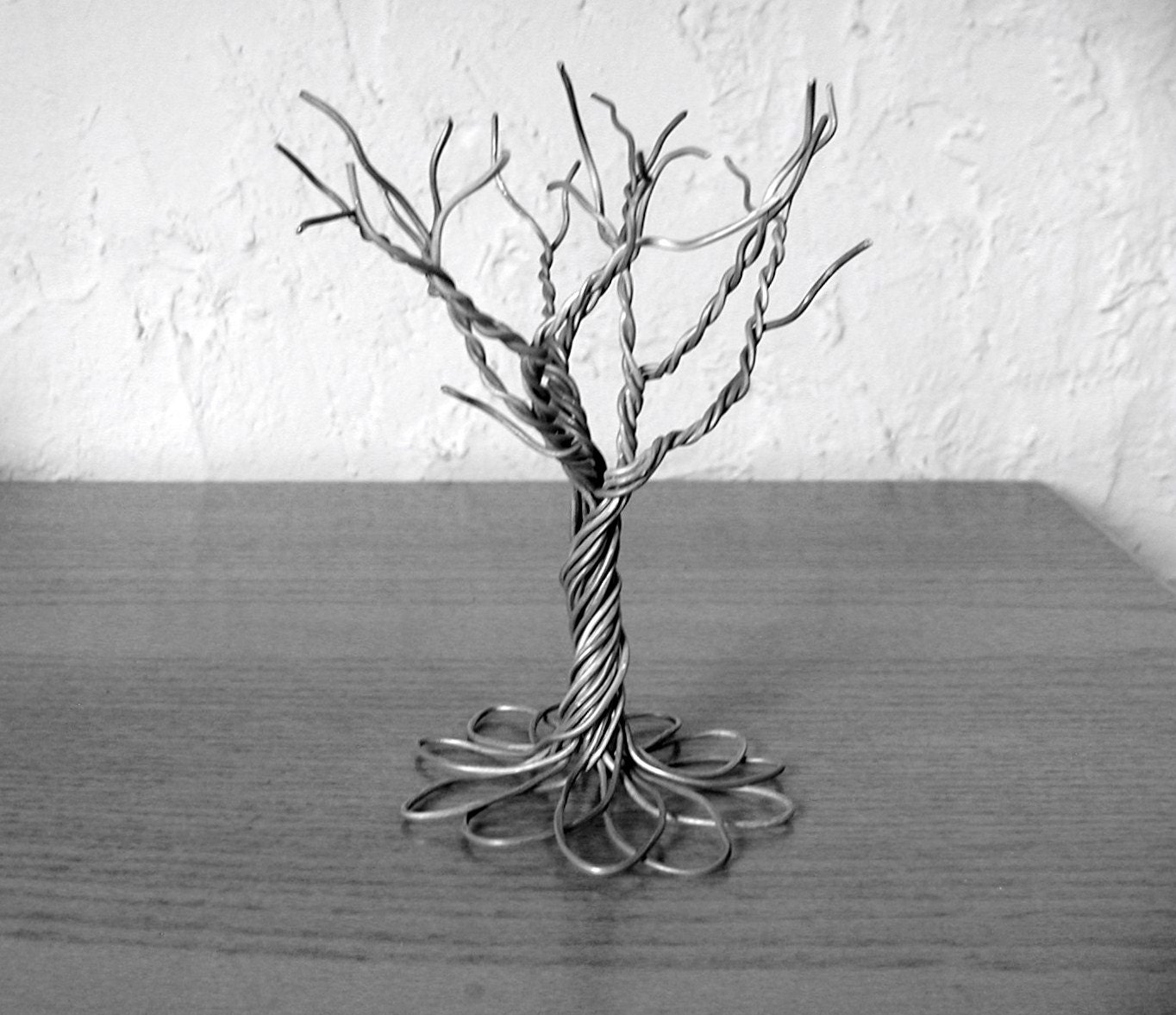 Primitive tree made from recycled upcycled by for How to make a wire tree of life sculpture