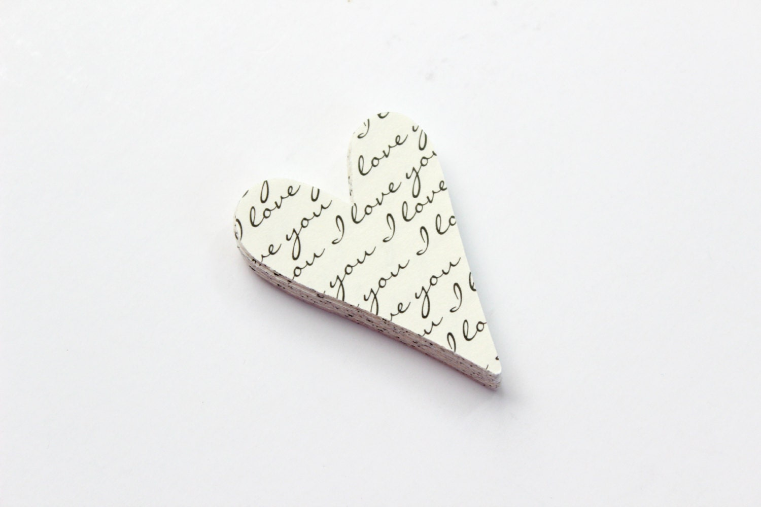 I Love You Heart Die Cuts - Romantic Spring Wedding - Typography - SweetPaperLove